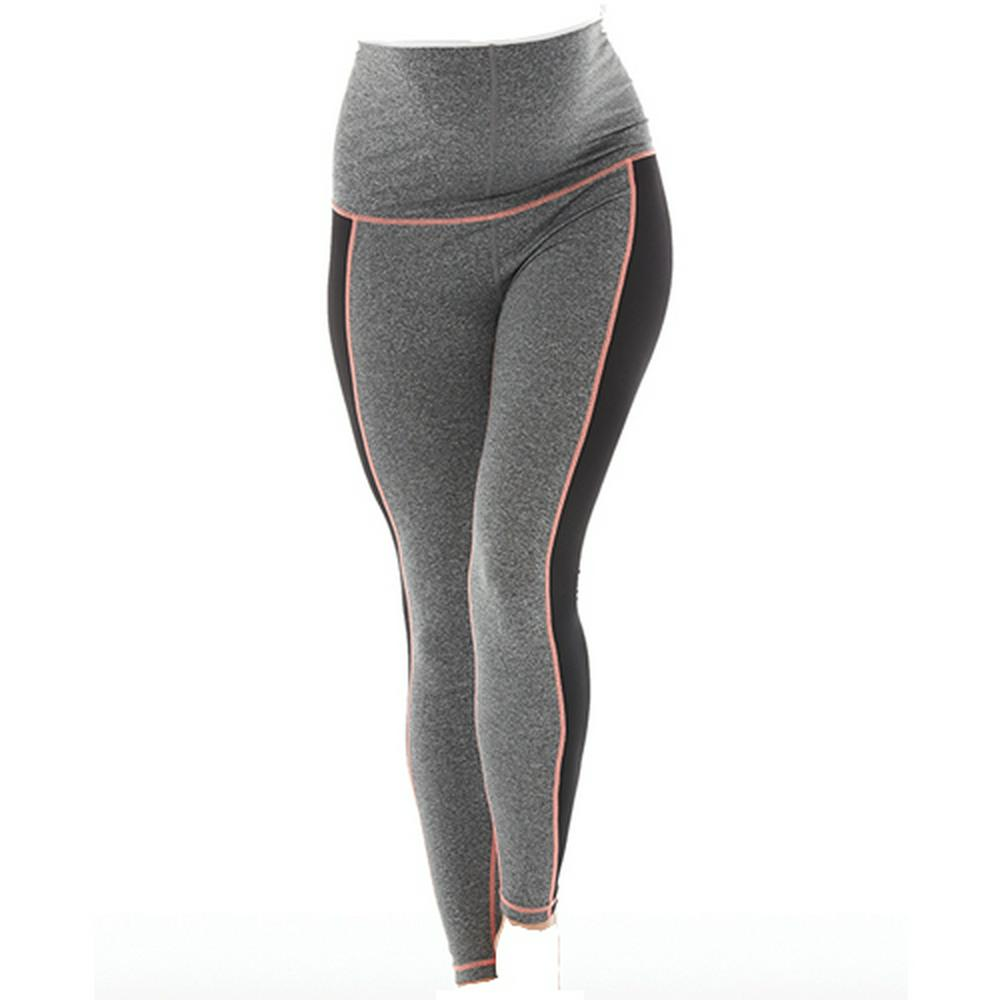 9df6bce2d1c16 Enji Maternity Activewear - Full Length Gray/Black with Coral ...