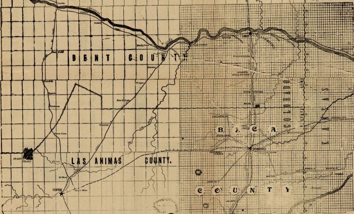 January 8 1915 Stage Coach Route from the Boom Town Days