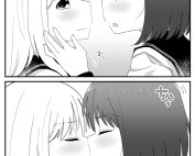 Komik Hajimete Kisu Shita Toki no Onnanoko Futari no Hannou