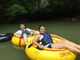Floating down a snake filled cave and river.