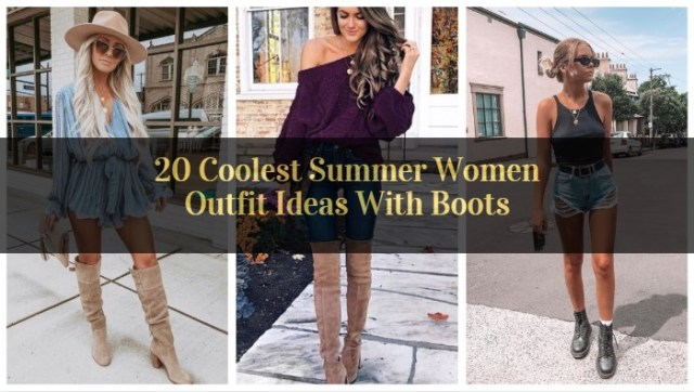 Coolest Summer Women Outfit Ideas With Boots_featured