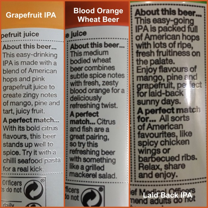 beer pairing with food on cans