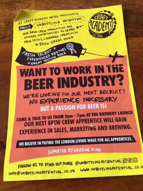 work in the beer industry