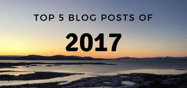 Top 5 Blog Posts of 2017