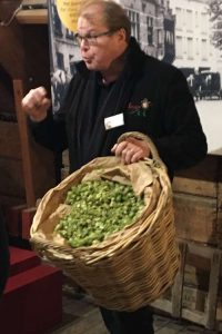 Showing some dried hops used in beer production