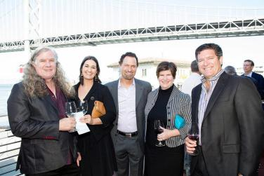 Team DeLille and Team VingDirect: Chris Upchurch, Pilar Mustafa (Director of Marketing, VingDirect), Jay Soloff (Co-Owner/Partner/Executive Vice President – Sales & Marketing, DeLille Cellars), Tammy Boatright (President, Ving Direct), Greg Lill