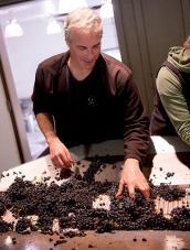 Tony Rynders making wine