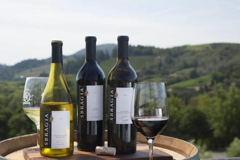 wines and view