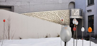 Espalier i Ibsenpassasjen/ Trellis in stainless steel