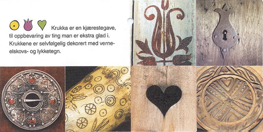 Folder til inpirasjon fra Telemarkskulturen / Folder with inspirsation from the Telemarks culture
