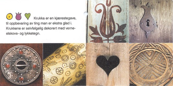 Folder til inpirasjon fra Telemarkskulturen / Folder with inspirsation from the Telemarks culture