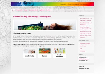 Kreativkunst hjemmeside blogg / web and blogg