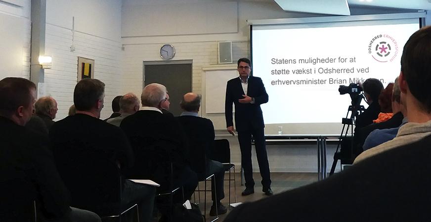 Erhvervsminister Brian Mikkelsen