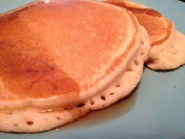 Free pancakes from our hostel.