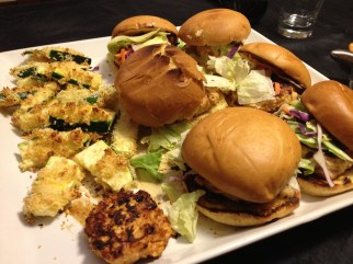 Plated Chicken Burgers