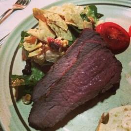 steak, tri tip, grill, salad