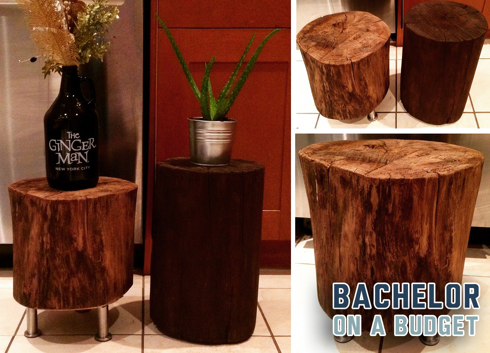 DIY Tree Stump Side Tables Bachelor On A Budget
