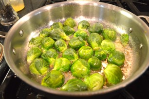 Some brussels sprouts for a side dish.