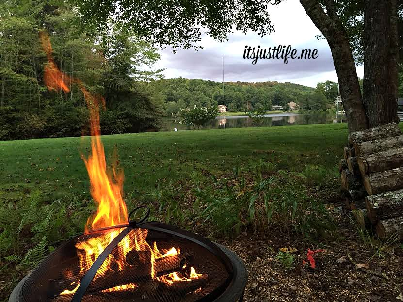 We will be enjoying fires in the fire pit frequently. There might be some S'mores in our future.