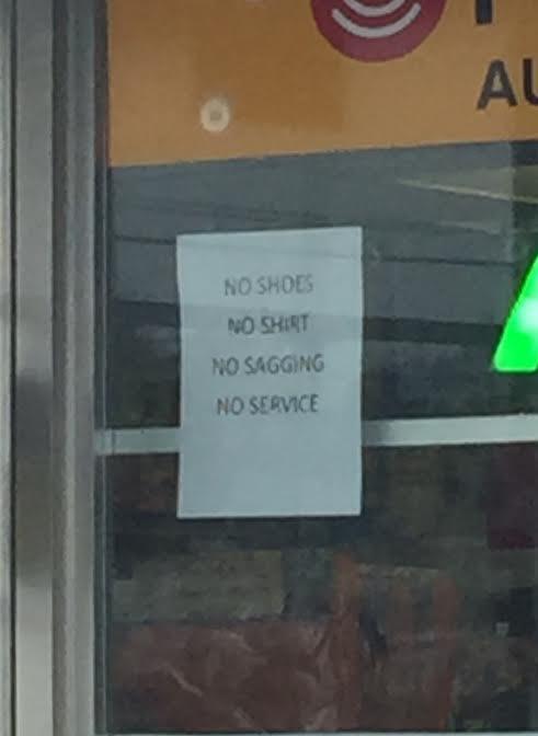 no sagging