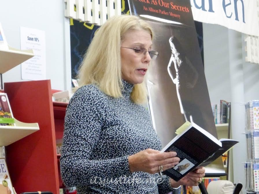 Adair Sanders reads a selection from one of her books.