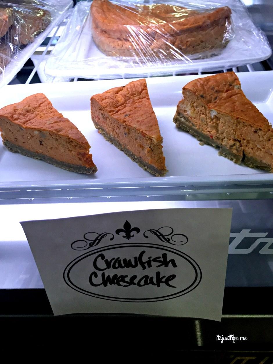 crayfish cheesecake