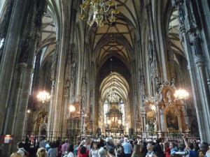 im Stephansdom in Wien