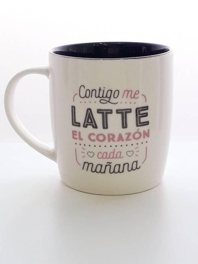 """Taza - """"Me latte el corazón"""" 9"""