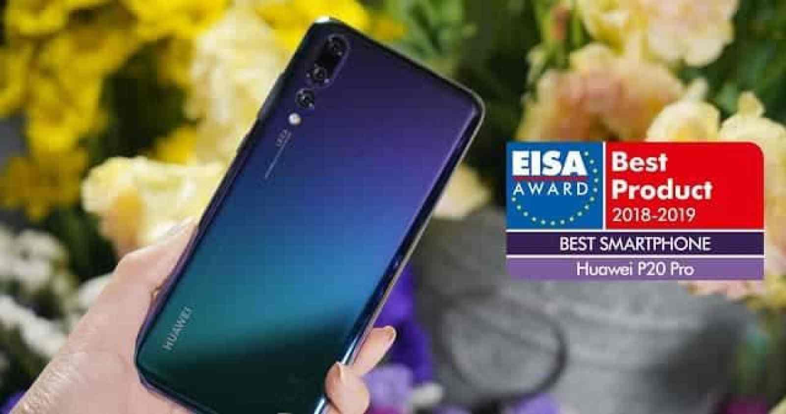 """- HUAWEI P20 Pro 2 2 - HUAWEI P20 Pro คว้ารางวัล """"สมาร์ทโฟนที่ดีที่สุดแห่งปี"""" จาก EISA Awards 2018-2019"""