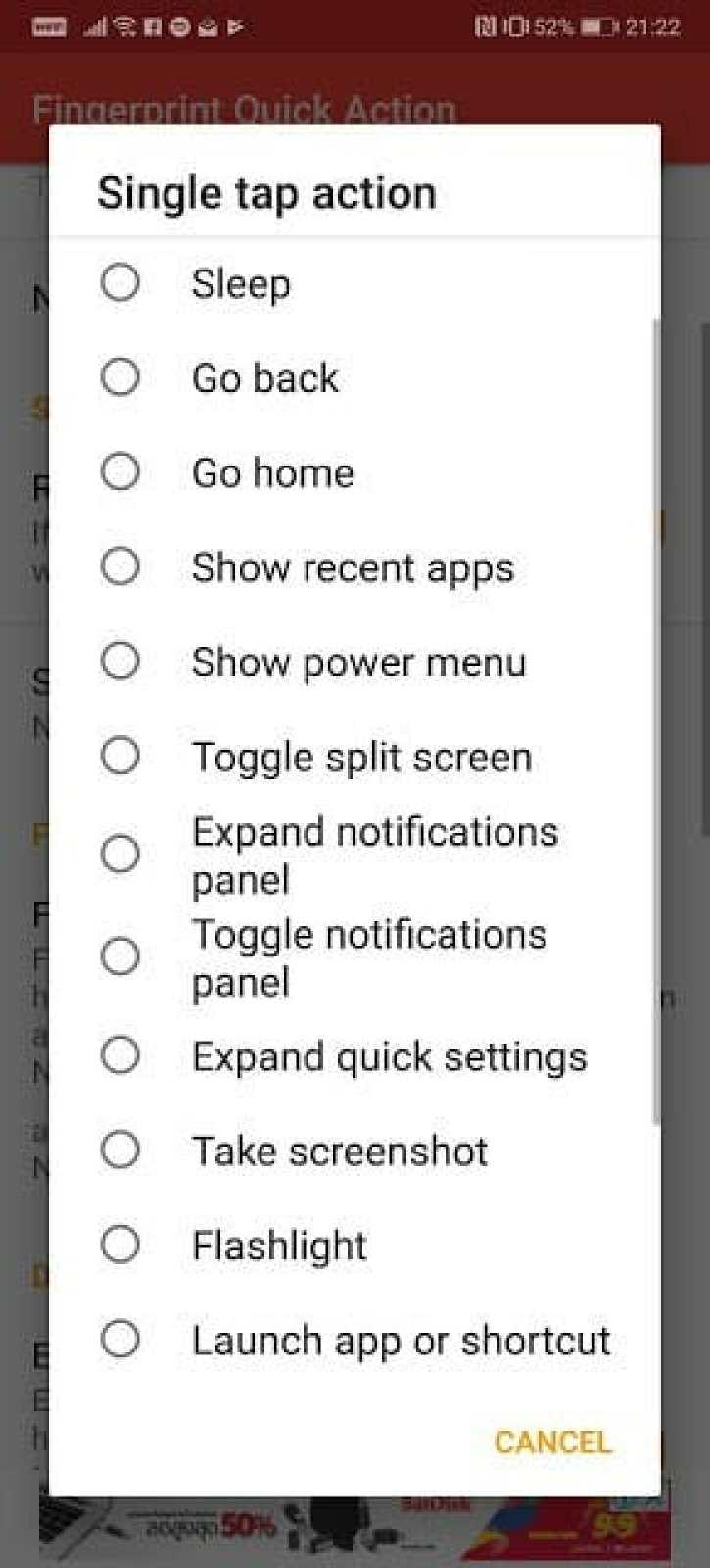- เพิ่มความสามารถให้เซ็นเซอร์ลายนิ้วมือ ไม่ว่าจะแคปจอ เปิดแอป เปิดแจ้งเตือนก็ทำได้ ด้วยแอป Fingerprint Quick Action