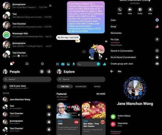 - DowNP3lUYAAL4Um - Facebook Messenger เปิดให้ผู้ใช้ทดลองใช้ธีมสีดำในบางประเทศ