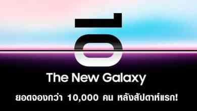 - Samsung เผยยอดจองล่วงหน้า Galaxy S10 Series สัปดาห์แรกจองไปแล้วกว่าหมื่นเครื่อง