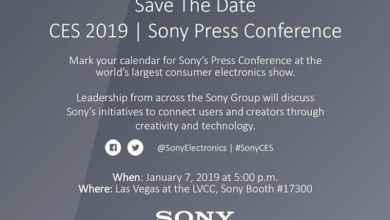 - Sony CES 2019 - Sony ส่งจดหมายเชิญงาน CES2019 พร้อมเปิดตัวสินค้าใหม่ 8 มกราคมนี้ตามเวลาไทย