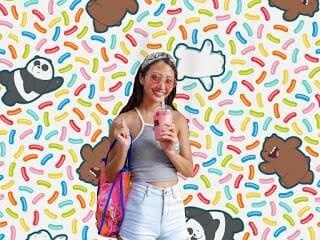 - WBB Mosaic 01 - แอปแต่งภาพ Meitu เพิ่มตัวการ์ตูนน่ารักจาก We Bare Bears
