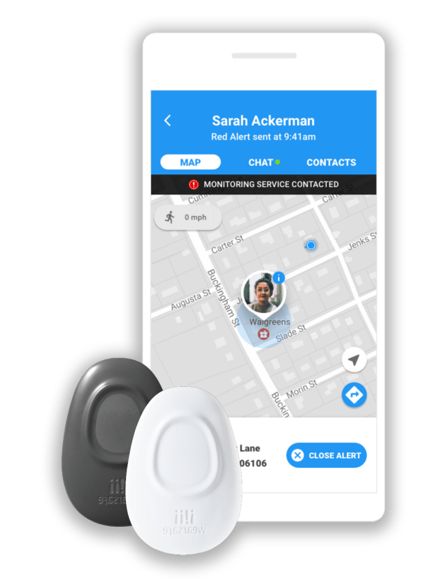 With the Wearsafe platform, your designated contacts receive both your location and audio of what is happening around you.