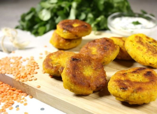 Bouchées de lentilles corail à l'indienne – mâche