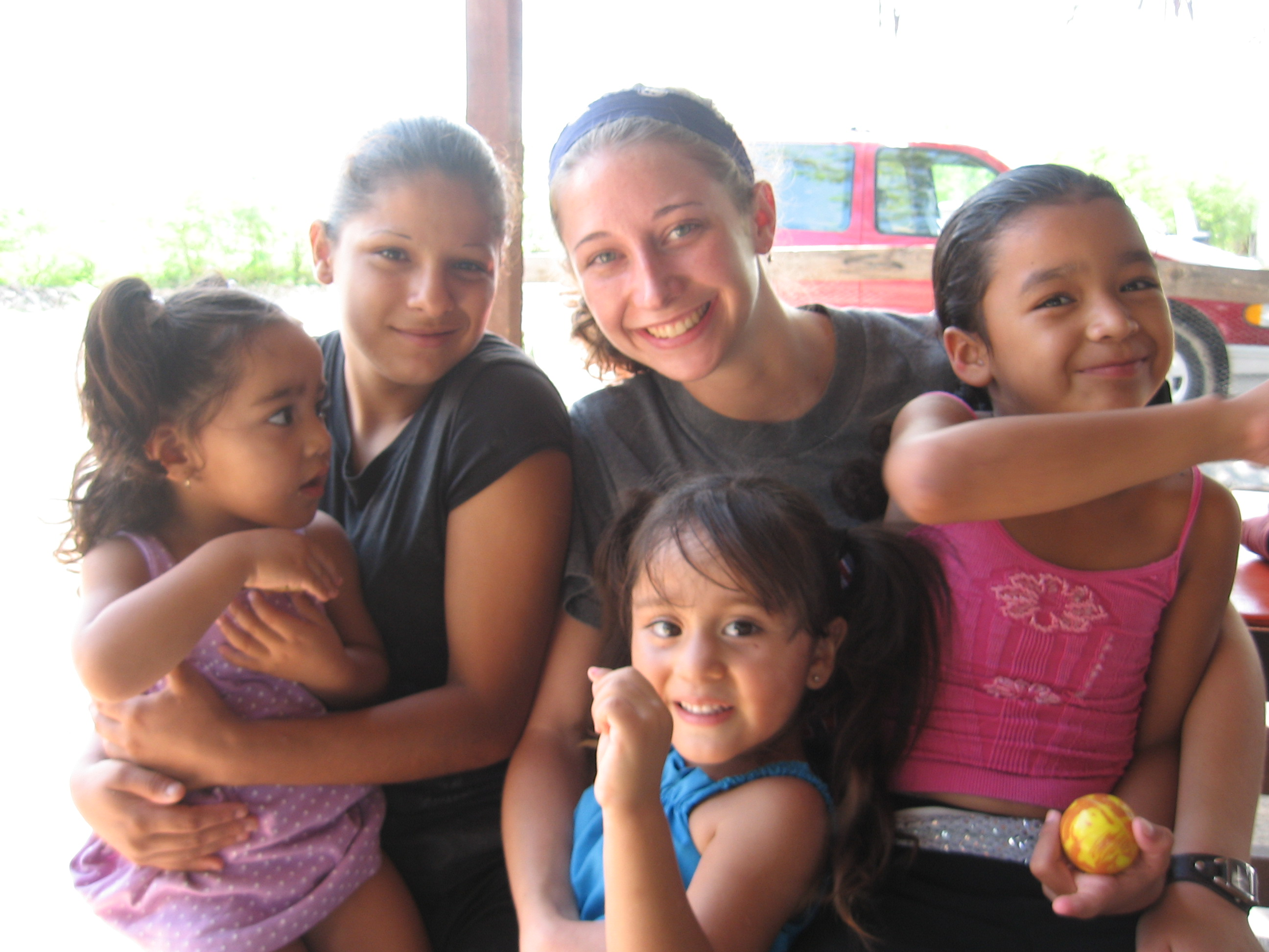 Hope, spending time with the children at Meme's Rio, a squatter's village where Back2Back serves