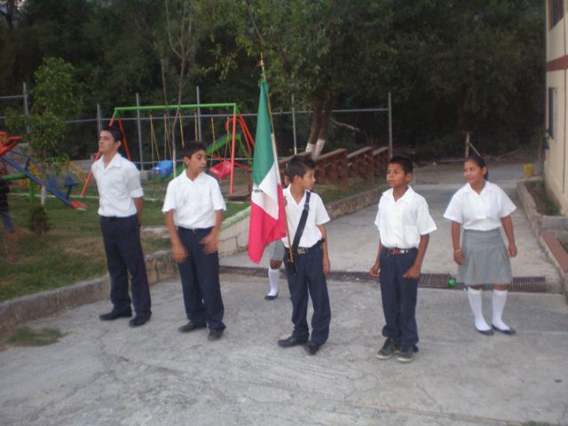 The children recited the National Anthem