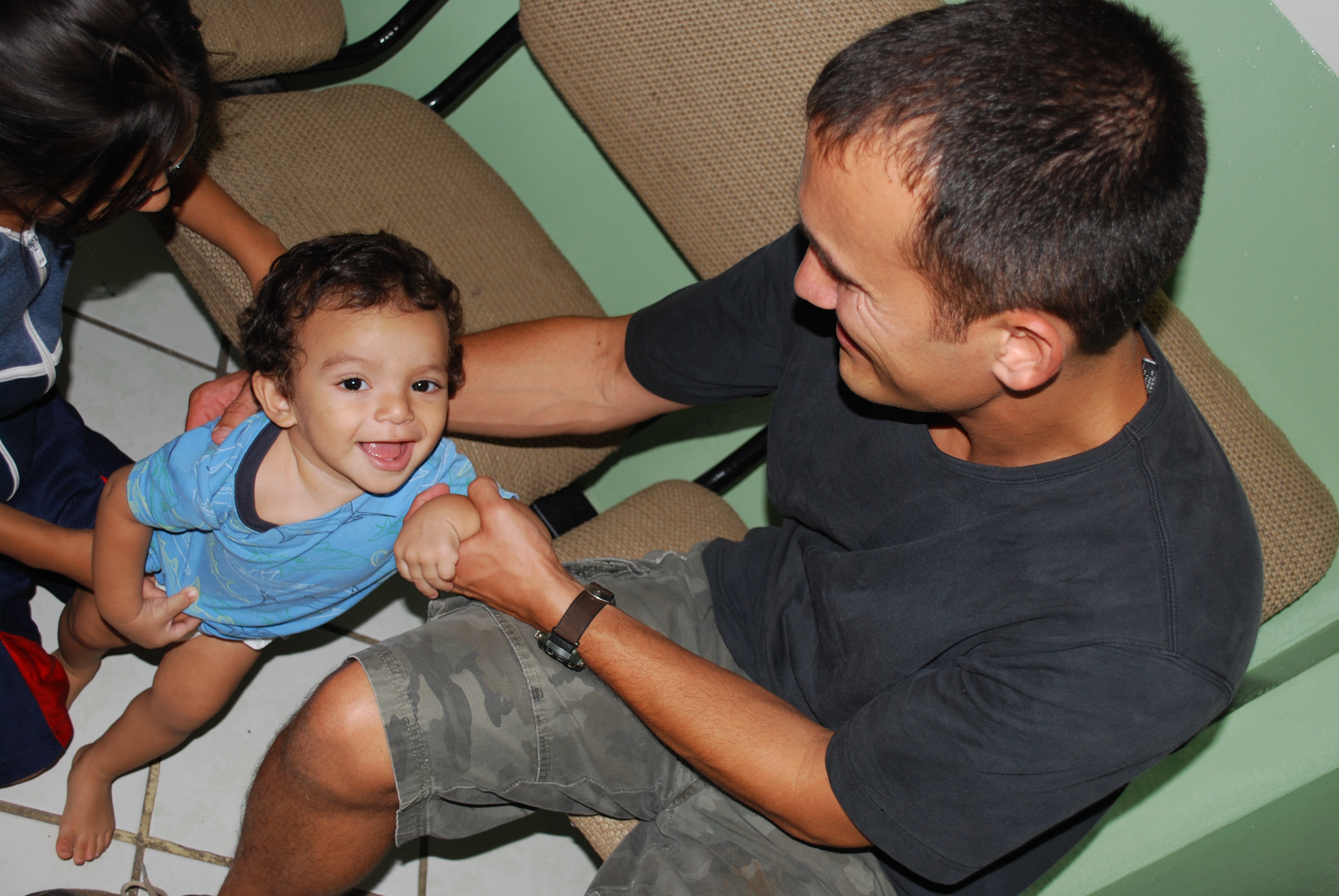 Chris Ramos, spending time with the children at Del Norte Children's Home
