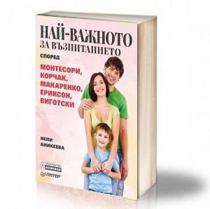 Book Cover: Най-важното за възпитанието според Монтесори, Корчак, Макаренко, Ериксон, Виготски - Нели Аникеева