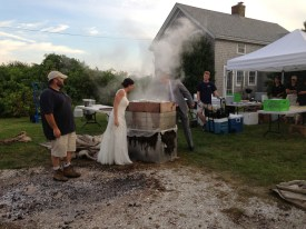 The unveiling of the clam bake