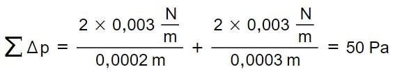 Summenrechnung Gasblaseninnendruck