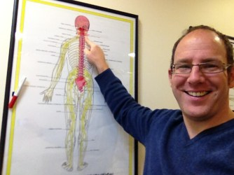 James Revell Doctor of Chiropractic, Eastbourne showing the nerves from the neck, which contribute to the Median nerve, which is the nerve effected in Carpal Tunnel Syndrome