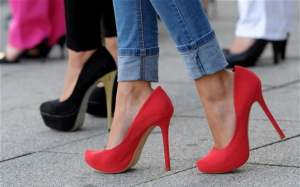 Picture shows a pair of high heels.