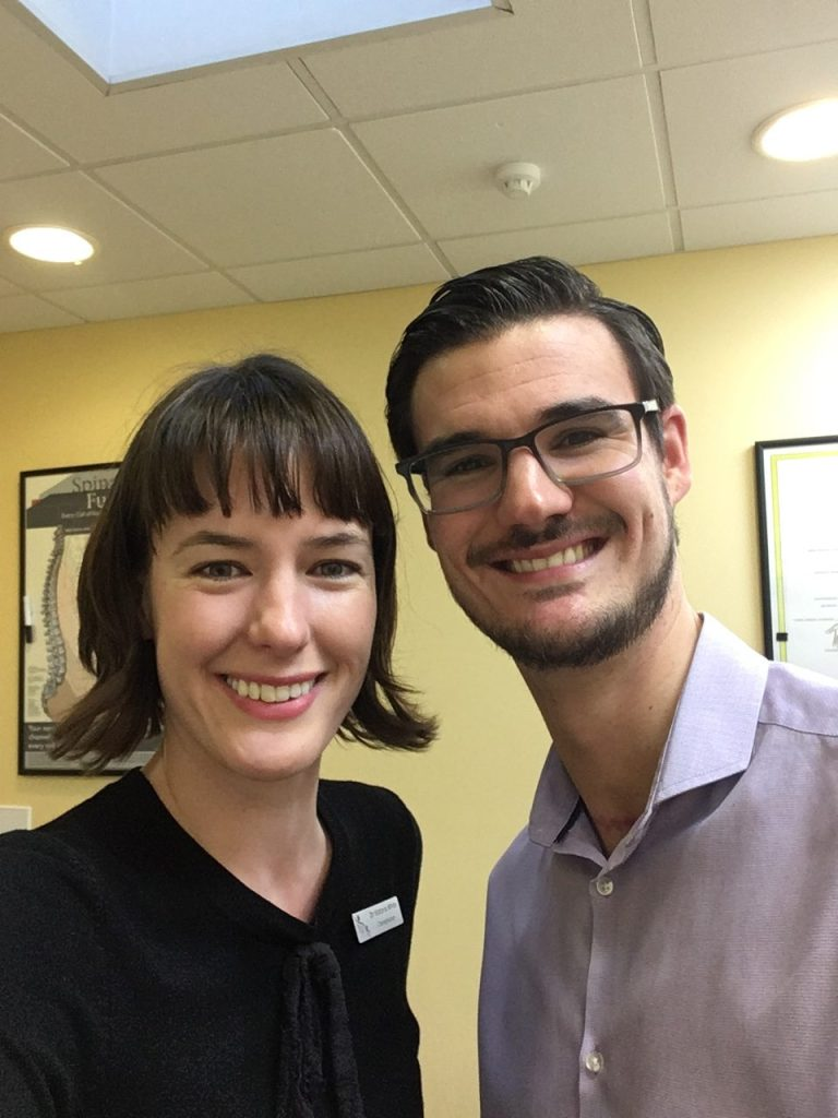 Image shows Eastbourne Chiropractors Mykel Mason and Victoria White