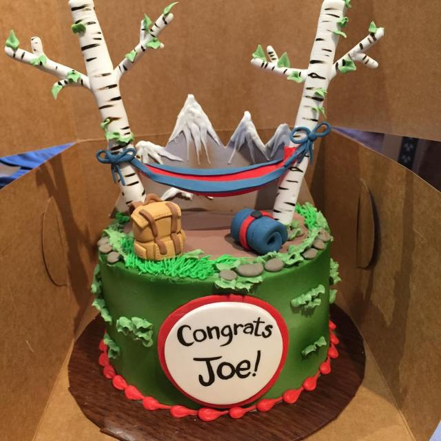 This is officially the coolest cake Ive ever received! hammockcampinghellip