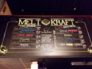 chalk board menu sign