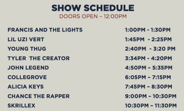 Chance The Rapper magnificent coloring day schedule , Magnificent Coloring Day Festival Lineup , Chance The Rapper