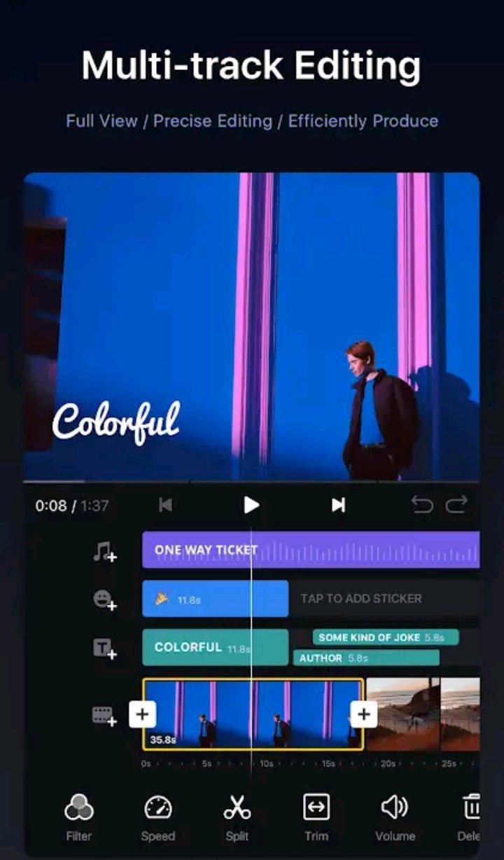 Multi track video editing