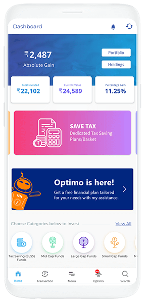 investica-Mutual Fund App, Tax & SIP Investments